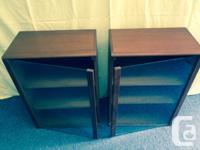 Beautiful condition, hand-made, matching teak cabinets