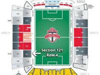 For sale are two tickets to the April 12th TFC vs