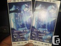 2 tickets sec 330 row 5 seats 101, 102. Home opener.