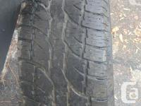 Have 2 tires for sale. One is only good for a spare and