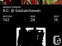 August 13th, 6pm section 142 row 24 seats 14&15 selling