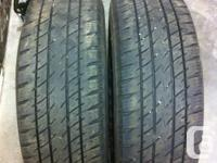 (2) GT Radial Truck Tires. Size; LT 265/75R16 M&S.