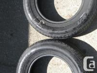 2 used WINTER Kumho Tires p155/80 r13 79t fits 13 rims
