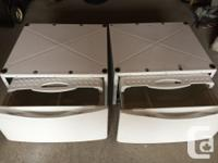 Whirlpool washer and dryer pedestal drawers in