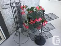 2 wrought iron stands for plants or other creative
