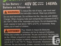 I have 2 Greenworks 40V Lithium Ion Batteries and the