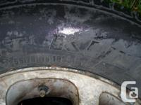 Selling 2 x M&S winter tires on Jeep rims. Still has