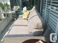 La-Z-boy silver grey fabric 2 seater Love Seat, 2 years