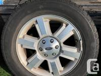 Off a 2008 Ford F150 Lariat. Rims are in good shape.