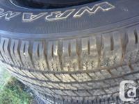Black and Machined Goodyear Wrangler SRA 275/60/20 90%