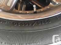 Used set of rims with mounted tires. About 15-20K of