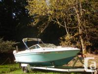 Deep, stable hull with fibreglass stringers, good for