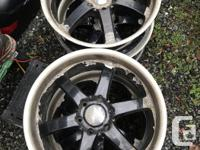 20� Boss 330 Rims on Ford 6x135mm pattern. Paint is