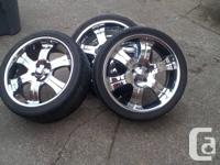 "20"" chrome rims, with tires.  5 bolt pattern Boss rims"