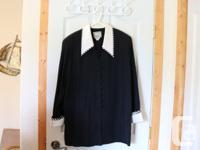 Size 16 2 piece Black Zebra Jacket & Skirt 2 piece