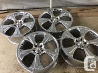 These are in good shape. 20 Inch wheels by 8.5 wide