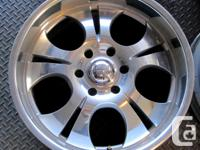 "4 Boss Motorsports 20"" rims Polished finish, in good"