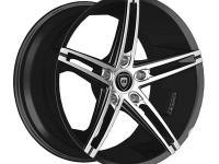 "22"" Lexani R-3 ALL BLACK Wheel SET STAGGERED for 5LUG"
