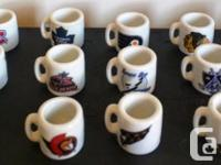 20 NHL mini mugs  Toronto Maple Leafs  Boston Bruins