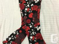 Vibrant flowers adorn these funky pants front and back.