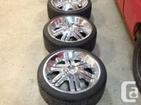"Set of 20"" Rozzi Wheels and tires.  Plus matching spare"