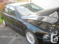 Parting out a 2000 540i Sports pkg.  Black on black.  -