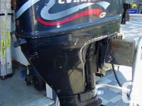 2000 9.9 Evinrude 4 stroke longshaft outboard motor,