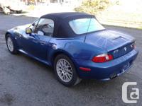 Make BMW Model Z3 Year 2000 Colour Blue kms 122000
