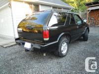Make Chevrolet Model Blazer Year 2000 Colour Black kms