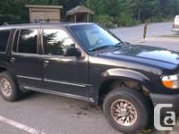 Up for sale is my 2000 Ford explorer, 5 door V6 model.