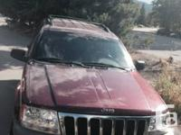 2000 Jeep Grand Cherokee. $2700 OBO! Color: red. 4x4 V6