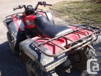 2000 Grizzly 600, 4 x 4 Quad, very good shape, good