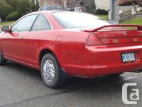 Make Honda Model Accord Coupe Year 2000 Colour Red kms