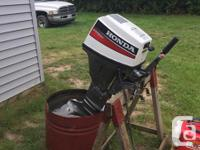 2000 Honda 4 stoke 15 HP long shaft out board motor low
