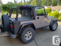 Make Jeep Model TJ Year 2000 Colour Gray kms 204000