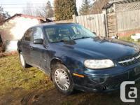 Make. Chevrolet. Model. Malibu. Year. 2000. Colour.