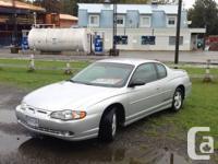 2000 Chevrolet Monte Carlo SS Automatic,