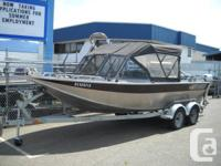 20 FOOT NORTH RIVER TRAPPER WITH 350 CARB MOTOR AND
