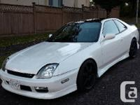 2000 Pearl white automatic Prelude with Gloss black