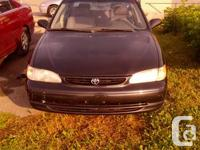 2000 TOYOTA COROLLA  AC AUTO ONLY 243 KM VERY SMALL