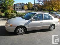 Well-maintained, lady-driven, single owner Corolla for