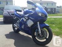 Blue 2000 Yamaha YZF R6 This bike runs great. I drive