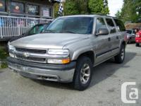 Make. Chevrolet. Version. Suburban 1500. Year. 2001.