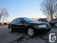Black on Black leather, AWD  2001 Audi A4, with