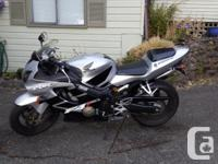Make Honda Year 2001 kms 49789 Great looking bike. Fun
