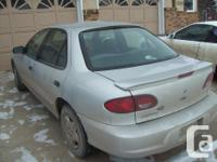 Make Chevrolet Model Cavalier Year 2001 Colour grey
