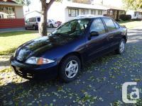 2001 Chevy Cavalier for sale!!! It is a 4 door, blue in