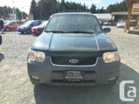 Make Ford Model Escape Year 2001 Colour Green kms
