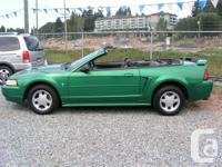 2001 FORD MUSTANG CONVERTIBLE, V6 3.8 LITER, AUTOMATIC,