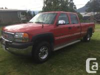 2001 GMC Sierra 2500 HD slt Crew cab long box 4x4 Full